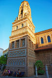 Torre de Utebo της Αραγονίας στο ισπανικό χωριό σε Montjuic Στοκ Εικόνα