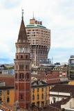 Torre de Velasca do telhado do domo, Milão Fotografia de Stock Royalty Free
