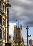 Torre de Victoria, palácio de Westminster, Londres Fotografia de Stock