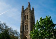 Torre de Victoria, palacio de Westminster, Londres Foto de archivo