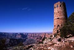 Torre de vigia da opinião do deserto, garganta grande Fotos de Stock Royalty Free