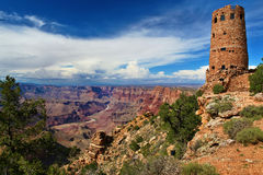 Torre de vigia da opinião do deserto, garganta grande, o Arizona Imagens de Stock Royalty Free