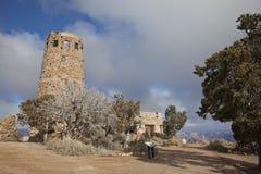 Torre de vigia da opinião do deserto na garganta grande Fotografia de Stock