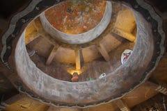 Torre de vigia das pinturas murais da arte da parede Imagens de Stock