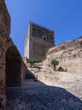 Torre de vigia do Castelo medieval de Vide Castelo Imagem de Stock Royalty Free