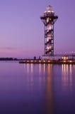 Torre de vigia em um louro no por do sol Fotos de Stock Royalty Free
