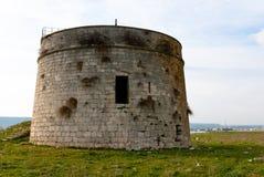 Torre de vigia. Península de Magnisi, Siracusa, Sicília. Fotos de Stock