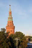 Torre de Vodovzvodnaya do Kremlin de Moscou Imagem de Stock