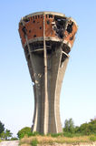 Torre de Vukovar destruída na guerra fotografia de stock royalty free