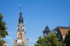 Torre de Waag velho, construção, Alkmaar, os Países Baixos fotografia de stock royalty free