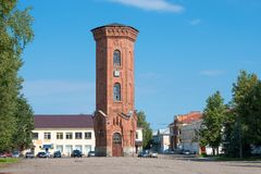Torre de Waterproove em Staraya Russa Imagem de Stock Royalty Free