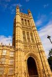 Torre de Westminster cerca de Big Ben en Londres Imagen de archivo