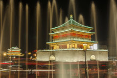 Torre de Xian Bell na noite Fotos de Stock Royalty Free