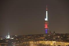 Torre de Zizkov TV Fotografía de archivo libre de regalías