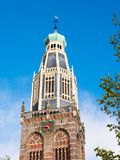 Torre de Zuiderkerk, de la iglesia del sur, o de la iglesia de St Pancras en el En foto de archivo libre de regalías