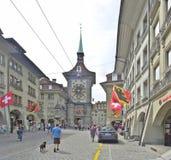 Torre de Zytglogge en Berna Imágenes de archivo libres de regalías