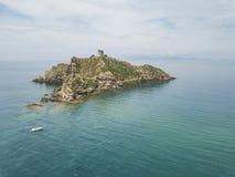 Torre Degli Appiani Νησί σε Punta ΑΛΑ Τοπίο της Ιταλίας στοκ φωτογραφία με δικαίωμα ελεύθερης χρήσης