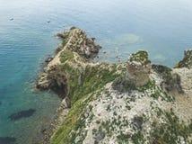 Torre Degli Appiani Νησί σε Punta ΑΛΑ Τοπίο της Ιταλίας στοκ εικόνα με δικαίωμα ελεύθερης χρήσης