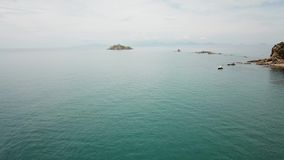 Torre Degli Appiani in Punta Ala. Italy. Torre Degli Appiani on island in Punta Ala. Italy stock video