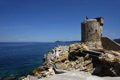 Torre-degli Appiani, Marciana Marina, Elba, Toskana, Italien stockbilder