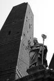 Torre degli Asinelli. A shot from below of Torre degli Asinelli, Bologna stock image