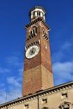 Torre-dei Lamberti, der höchste Turm und ein Markstein im Cent Stockfotos