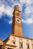 Torre dei Lamberti in Piazza delle Erbe, Verona Stock Photos