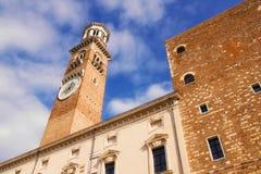 Torre dei Lamberti in Piazza delle Erbe, Verona Stock Photography