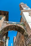 Torre Dei Lamberti in Verona Italy Immagine Stock Libera da Diritti
