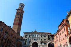 Torre dei Lamberti, Verona, Italy Royalty Free Stock Photos