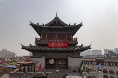 Torre dei lijingmen, dinastia di Sui, luoyang, Cina del portone fotografia stock