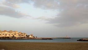Torre del杜克海滩马尔韦利亚安大路西亚西班牙欧洲 免版税库存照片