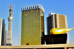 Torre del árbol del cielo bajo construcción Fotos de archivo libres de regalías