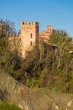 Torre del Abbazia di Monteveglio Fotografía de archivo