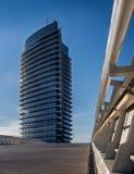 Torre del Agua i den Zaragoza expon parkerar Fotografering för Bildbyråer