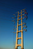 Torre del alambre eléctrico Imagen de archivo libre de regalías
