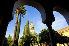 Torre del Alminar de la Mezquita en Córdoba Imagen de archivo libre de regalías