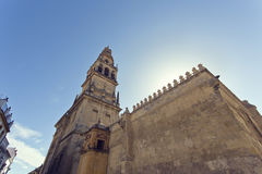 Torre del Alminar of the Mezquita in Cordoba royalty free stock photo