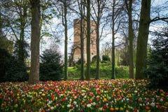 Torre del astle del ¡de Groot-Bijgaarden Ð en Bélgica Imagen de archivo