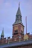 Torre del ayuntamiento de Copenhague dinamarca Imagen de archivo