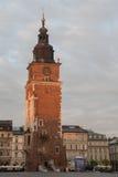 Torre del ayuntamiento en Kraków Foto de archivo