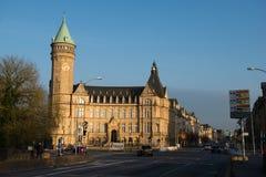 Torre del banco de ahorros propiedad del gobierno Fotos de archivo libres de regalías