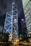 Torre del Banco de China en Hong Kong Fotos de archivo libres de regalías