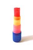 Torre del bigudí de pelo del Velcro Imagen de archivo