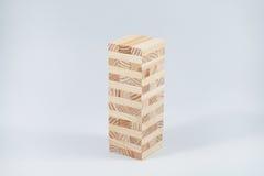Torre del blocco di legno Fotografia Stock