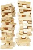 Torre del bloque de madera fotografía de archivo