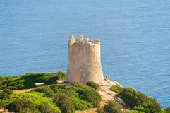 Torre del Bollo, каподастр Caccia, Сардиния, Италия Стоковые Изображения RF