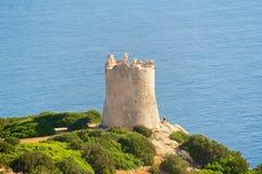 Torre del Bollo, Capo Caccia, Sardinige, Italië Royalty-vrije Stock Afbeeldingen