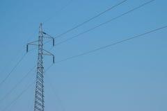 Torre del cable de tensión Imagen de archivo libre de regalías