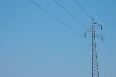 Torre del cable de tensión Fotos de archivo libres de regalías